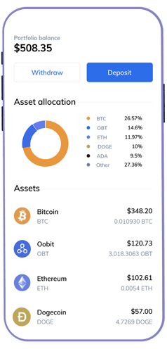 The easiest way to manage a crypto protfolio
